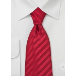 Bright Ruby Red Necktie in Extra Long Size