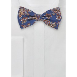 Paisley Patterned Pre-Tied Bow Tie