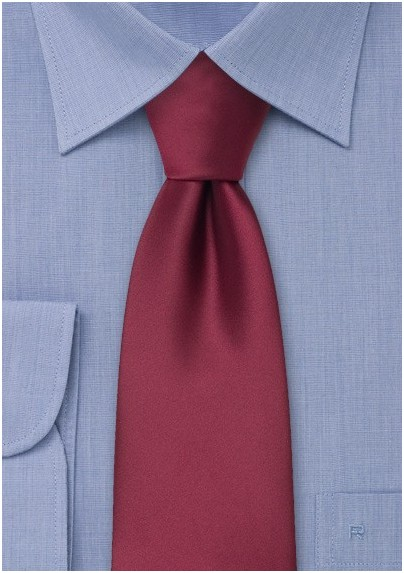 Solid Burgundy Kids Tie
