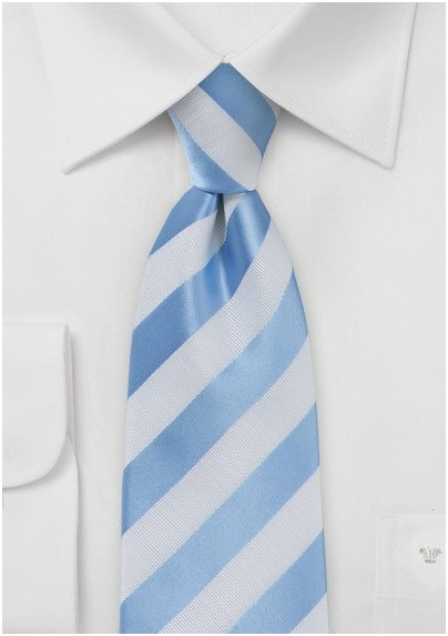 00168bac73ce Kids Tie in Light Blue and White