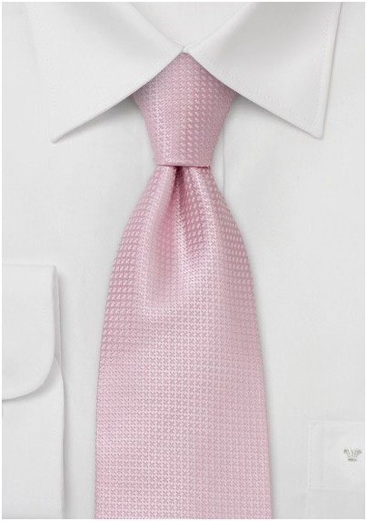 Fine Patterned Kids Tie in Soft Pink