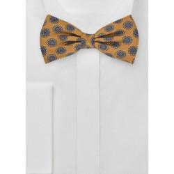 Dapper Bow Tie in Golden Yellow