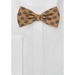 Dapper Bow Tie in Golden Yellow
