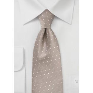 Kids Sized Polka Dot Tie in Fawn