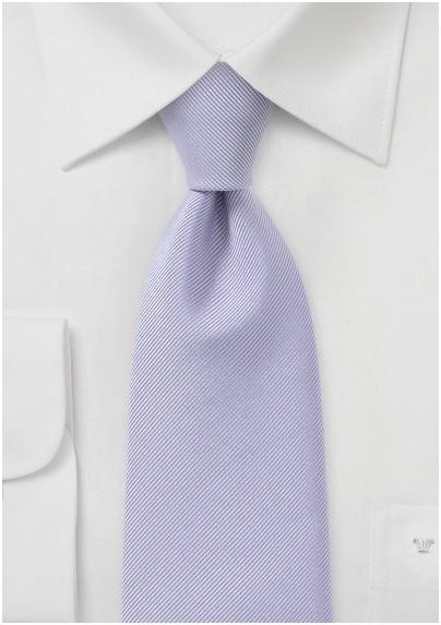 Ribbed Tie in Light Lavender