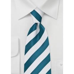 Horizon Blue Striped Kids Length Tie