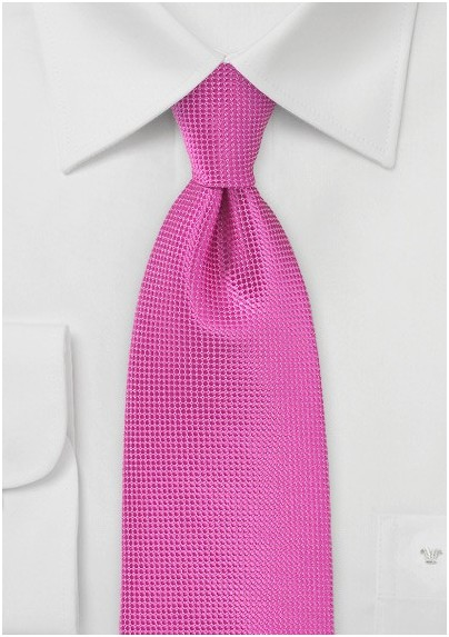 Textured Tie in Paradise Pink