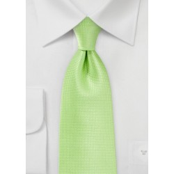 Textured Tie in Tropical Green