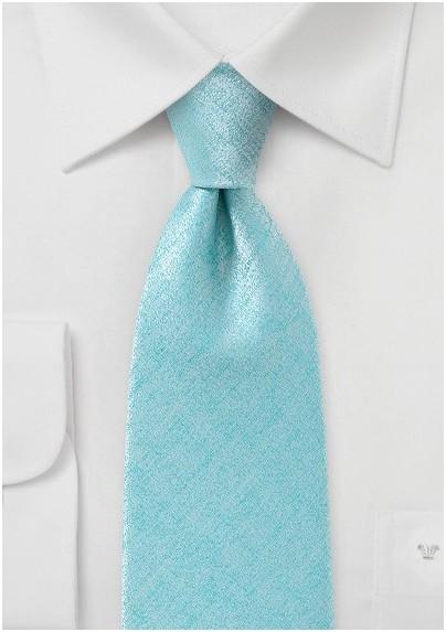 Handmade Light Aqua Textured Tie