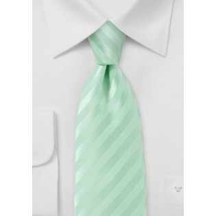 Narrow Pistachio Colored Neck Tie