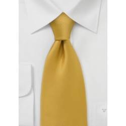 XL Solid Mustard Yellow Tie