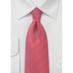 Bright Poppy Red Textured Tie
