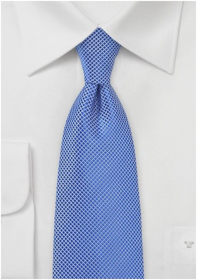 Cobalt Blue Textured Necktie