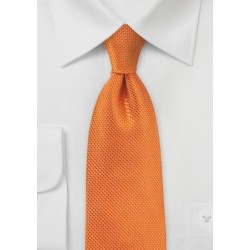 Kissed Tangerine Neck Tie in Silk