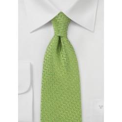 Art Deco Tie in Spring Green