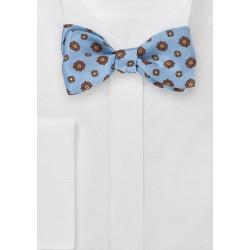 Powder Blue Floral Bow Tie