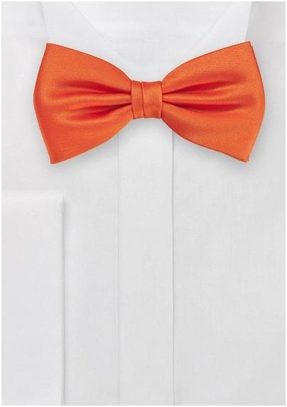 Warm Tuscan Orange  Bow Tie