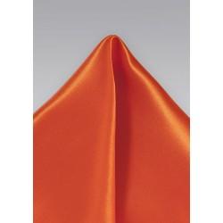 Tuscan Orange Pocket Square