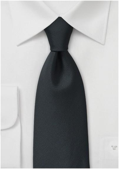 Handcrafted Microfiber Necktie in Onyx
