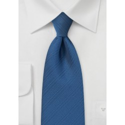 Radiant Dragonfly Blue Tie with Rib Texture