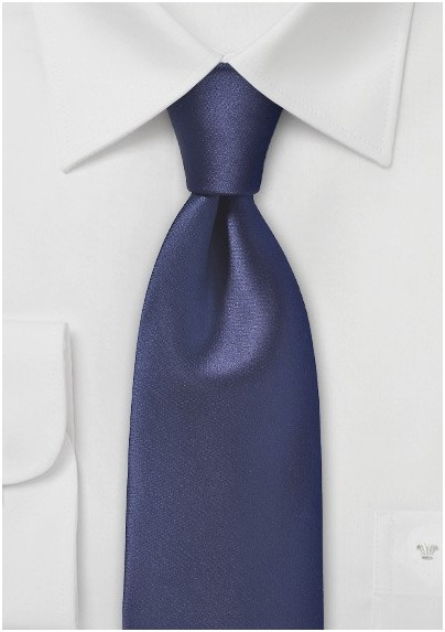 Elegant Dark Navy Neck Tie