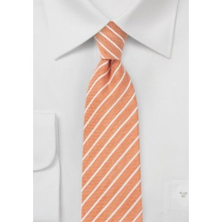 Tangerine Orange Linen Tie