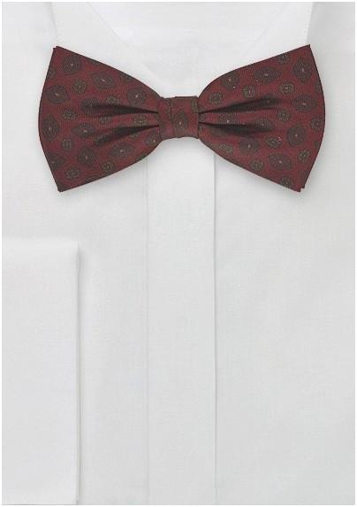 Mahogany Self Tie Paisley Bow Tie