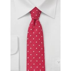 Artisan Polka Dot Skinny Tie in Reds