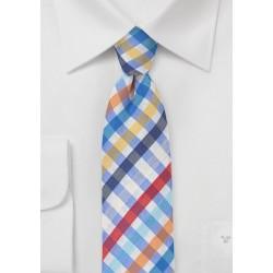 Seersucker Summer Tie in Blue