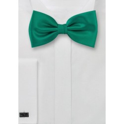 Solid Colored Silk Bowtie in Jade
