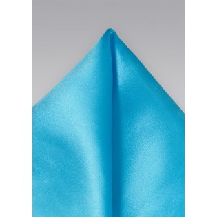 Mermaid Blue Handkerchief in Pure Silk