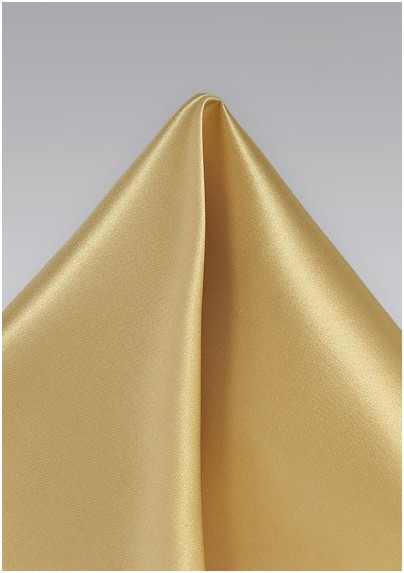 Muted Gold Pocket Square