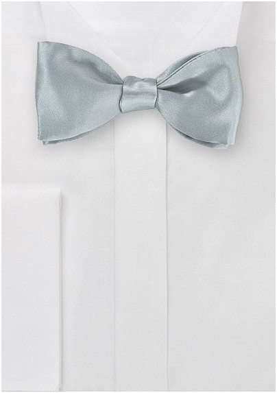 Steel Colored Self-Tie Bowtie in Silk