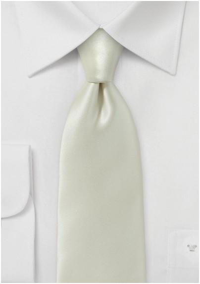 Pure Silk Solid Ivory Necktie