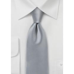 Silver Necktie in Pure Microfiber