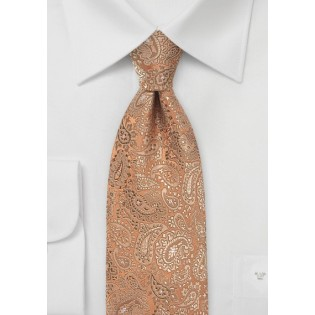 Muted Bronze Floating Paisley Tie