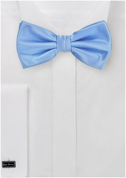 Bright Sky Blue Bow Tie