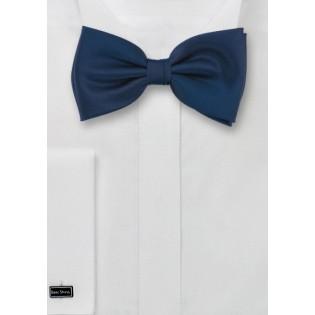 Dark Blue Bow Tie in Solid Color
