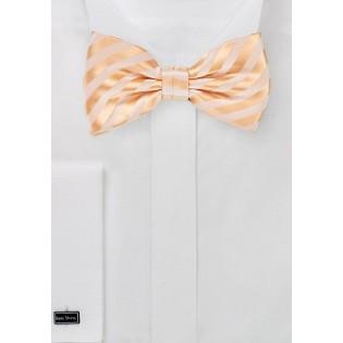 Solid Peach Colored Men's Bow Tie