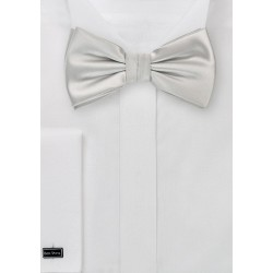 Light Platinum Silver Bow Tie