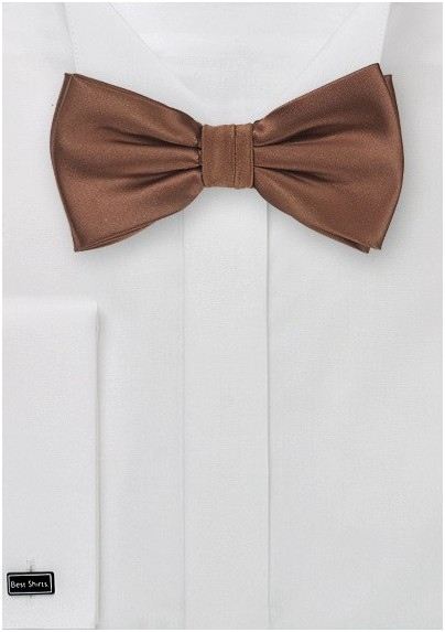 Mocha Brown Bow Tie