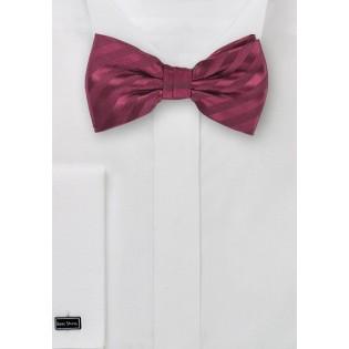 Single Color Burgundy Bow Tie