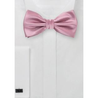 Solid Grayish Pink Bow Tie