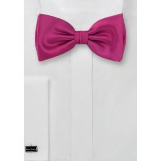 Solid Magenta-Pink Bow Tie