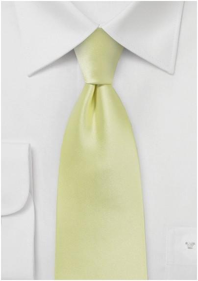 Lemon Grass Colored Necktie