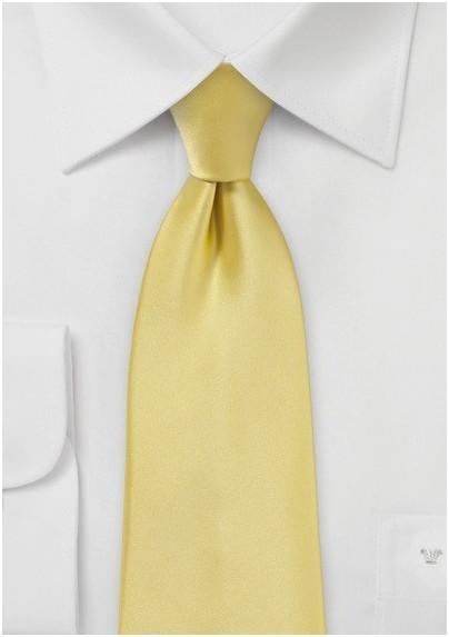Solid Necktie in Butter