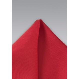 Solid Color Red Silk Pocket Square
