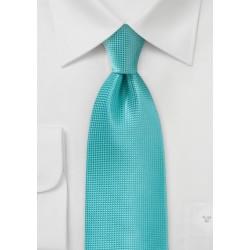 Textured Kids Tie in Lagoon Color