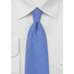 Cobalt Blue Textured Tie in Long Length