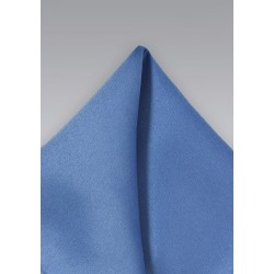 Solid Blue Men's Pocket Square